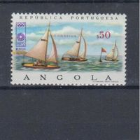 [274] Ангола 1972. Спорт.Олимпиада.Парусники,яхты.