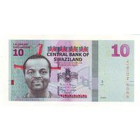 Свазиленд. 10 эмалангени 2015 г. - состояние !