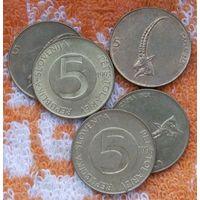 Словения 5 толаров, UNC. Новогодняя распродажа!