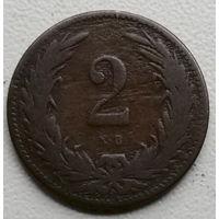 Венгрия 2 филлер 1898