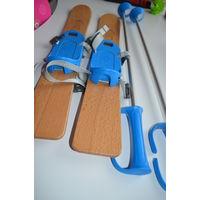 Детские лыжи учебные (сделаны во франции)