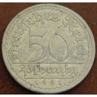 444**  50 пфеннигов 1921 А Германия