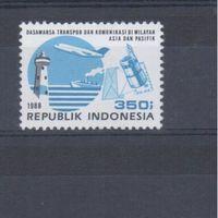 [367] Индонезия 1988. Транспорт,связь.Маяк.