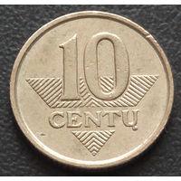 Литва 10 центов 1999
