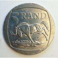 5 рандов 1995 года. Африка, ЮАР. Монета А2-2-7