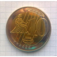 Ватикан 10 евро 2006г. -образец-