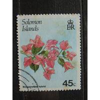 Соломоновы острова 1987 г. Цветы.