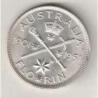 Австралия 1 флорин 1951 50 лет Федерации