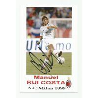 Manuel Rui Costa(Милан, Италия). Живой автограф на фотографии #1