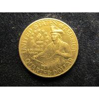 СЕВЕРНАЯ АМЕРИКА США 25 центов 1976 БАРАБАНЩИК