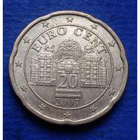Австрия 20 евроцентов 2007
