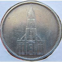 20. Германия 5 марок Кирха 1935 год, серебро.