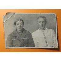 """Фото """"Мать и сын в вышиванке"""", 1923 г., Полесье"""