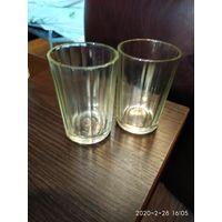 Старые стограммовые гранёные стаканчики из стекла СССР.