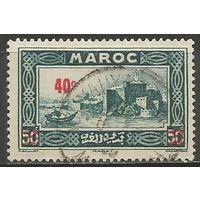 Французское Марокко. Город Рабат. Надпечатка на #104. 1939г. Mi#138.