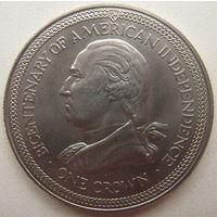 Остров Мэн 1 крона 1976 г. 200 лет независимости Америки
