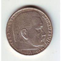 Германия. 2 марки 1939 г. ( А ) ,серебро