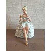 Фарфоровая статуэтка балерина.(Wagner & Apel),Германия (1950-1960)