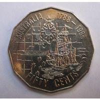 Австралия, 50 центов, 1988