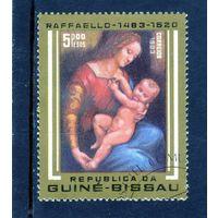 Гвинея-Биссау.Ми-685.Мадонна и младенец.500 лет со дня рождения Рафаэля. 1983