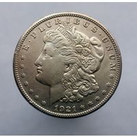 1 доллар 1921 г, МОРГАН ,США,Сан-Франциско,Колифорния,СЕРЕБРО. ТОРГ!