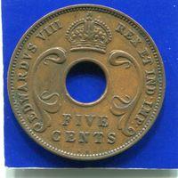 Британская Восточная Африка 5 центов 1936 KN