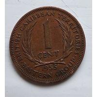 Восточные Карибы 1 цент, 1955 4-8-3