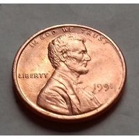 1 цент США 1991 г.