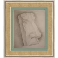 Рисунок, карандаш, часть лица 90-е