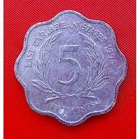30-16 Восточные Карибы, 5 центов 1998 г.