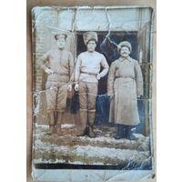 Фото трех бравых военных. 8.5х12.5 см