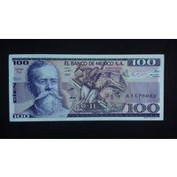 100 песо 1982 года. Мексика. UNC
