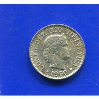 Швейцария 10 раппен 1960