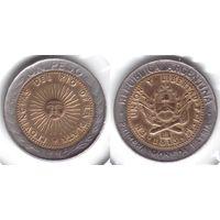 Аргентина 1 песо 1995 биметалл