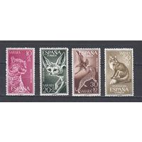 Фауна. Животные. Сахара. 1960. 4 марки (полная серия). Michel N 207-210 (2,8 е)
