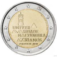 2 евро 2020 Португалия 730 лет Коимбрскому университету UNC из ролла