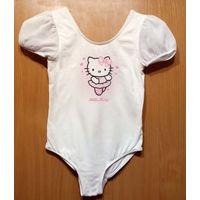 Р.134-140 Купальник гимнастический H&M Hello Kitty, хлопок