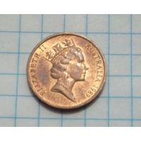 Австралия 1 цент 1989г.