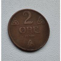 Норвегия 2 эре, 1921 4-10-19
