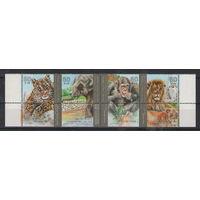 Израиль Фауна зоопарка 1992 год полная чистая серия из 4-х марок в нижней части листа