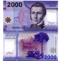 Чили 2000 песо образца 2013 года UNC p162c