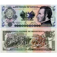Гондурас. 5 лемпир (образца 2001 года, P85b, UNC)