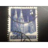 Германия 1948 англо-амер. зона L14 5 пф. Кельнский собор