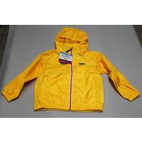Куртка ветровка-дождевик детская Kozi Kidz желтая