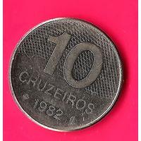11-26 Бразилия 10 крузейро 1982г.