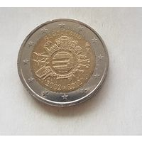 2 евро Нидерланды 2012 10 лет наличному обращению евро