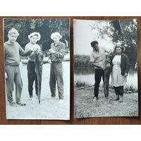 Фото из СССР. Богатый улов. 2 фото.  11х17 см. Цена за 1.