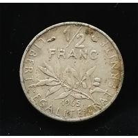 1/2 франка 1965 Франция #01