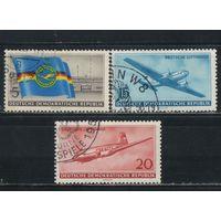 Германия ГДР 1956 Люфтганза #512,514,515