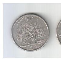 Квотер (25 центов) 1999 года (Р) Коннектикут 30